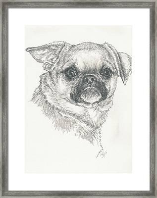 Cheeky Cheeks Framed Print by Barbara Keith
