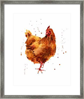Cheeky Chicken Framed Print