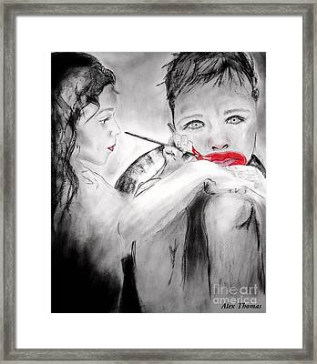 Cheer Up Fairy Framed Print by Alex Thomas