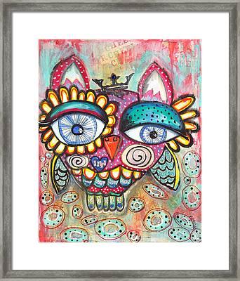 Cheer Owl Framed Print