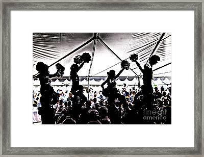 Cheer Silhouette Framed Print