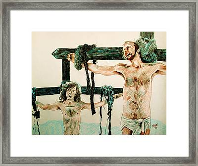Cheer Up Brian Framed Print by Jeremy Moore