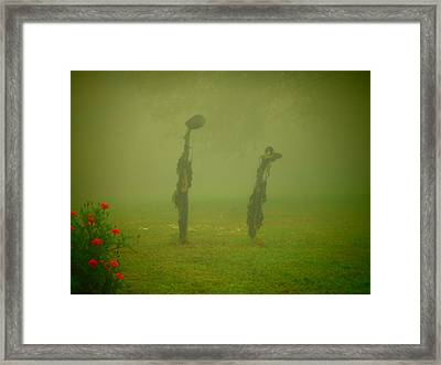 Cheer Up It'll Get Better Sunflower Pod People Framed Print by Diannah Lynch