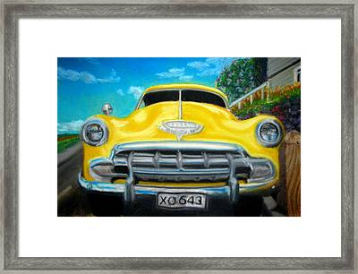 Cheerful Chevy Framed Print