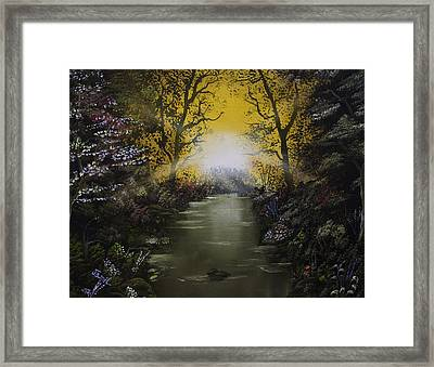 Cheerful Sunrise  Framed Print by Jamil Alkhoury