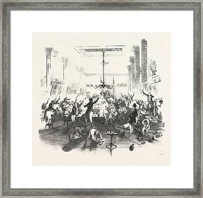 Cheering The Speech Framed Print by English School
