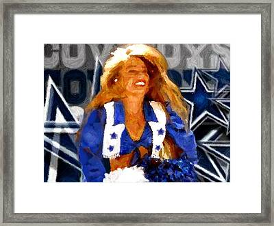 Cheerleader Legend Framed Print by Carrie OBrien Sibley