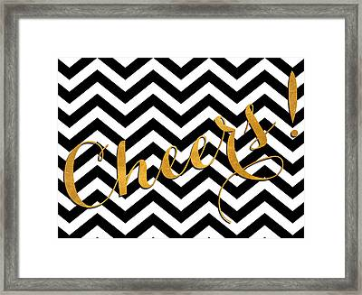 Cheers Chevron Framed Print