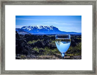 Cheers To Iceland Framed Print by Peta Thames