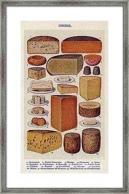 Cheese 1900s Uk Isabella Beeton  Mrs Framed Print