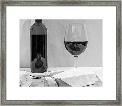Cheese And Wine Cliche Framed Print