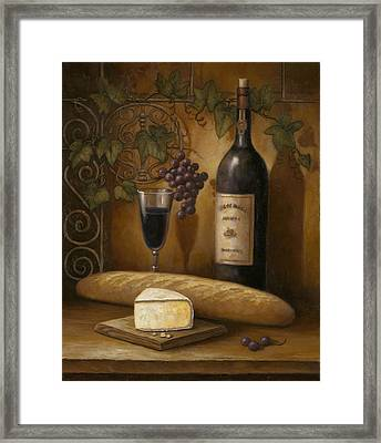 Cheese And Wine Framed Print by John Zaccheo