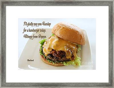 Cheese Burger Framed Print