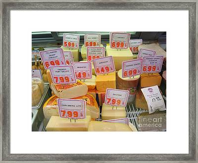 Cheese Display Framed Print
