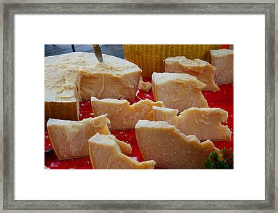 Cheese For Sale At Weekly Market Framed Print by Panoramic Images