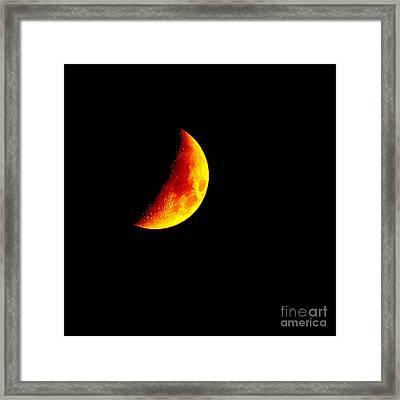 Cheese Moon Framed Print by Kip Krause