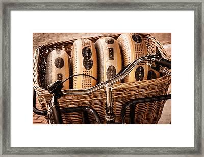 Cheese On Wheels Framed Print by Joan Carroll