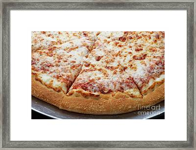 Cheese Pizza 3 - Pizzeria - Pizza Shoppe Framed Print