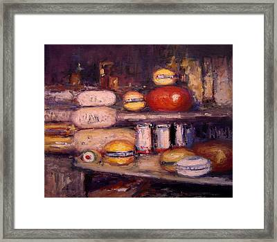 Cheese Shop Window Framed Print by R W Goetting