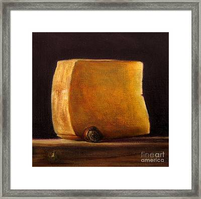 Cheese With Hazelnut Framed Print