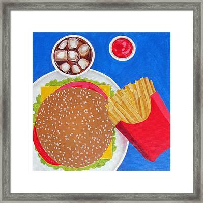 Cheeseburger Framed Print