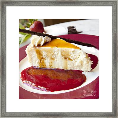 Cheesecake Framed Print by New  Orleans Food