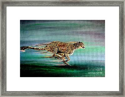 Cheetah Run 2 Framed Print by Nick Gustafson
