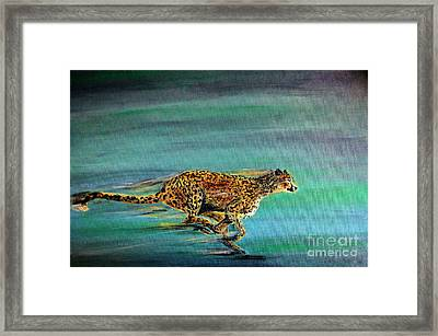 Cheetah Run Framed Print by Nick Gustafson