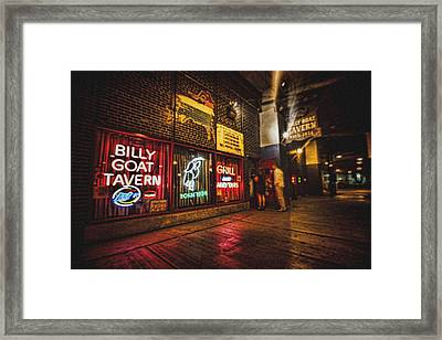 Cheezborger Cheezborger At Billy Goat Tavern Framed Print