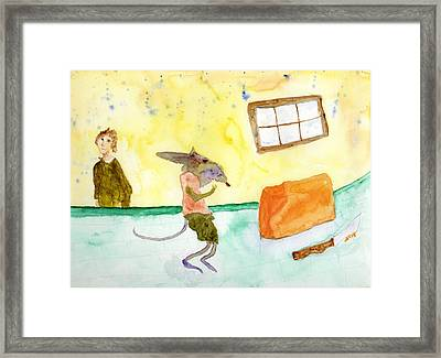 Cheeze Thief Framed Print