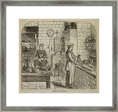 Chef At The Stove Framed Print by British Library
