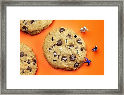 Framed Print featuring the photograph Chef Depicting Thomson Atomic Model By Cookies Food Physics by Paul Ge