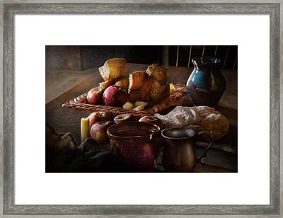 Chef - Food - A Tribute To Rembrandt - Apples And Rolls  Framed Print by Mike Savad