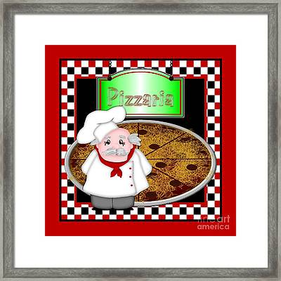 Chef Italiano Framed Print by Margaret Newcomb