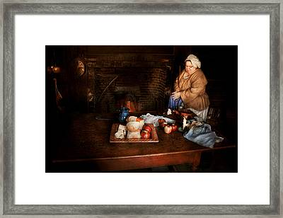 Chef - Kitchen - Today's Menu  Framed Print by Mike Savad