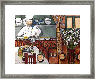 Chef On Line Framed Print by Patti Schermerhorn