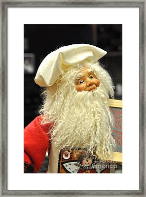 Chef Santa Framed Print by Vinnie Oakes