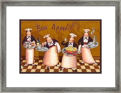 Chefs Bon Appetit Framed Print by Viv Eisner