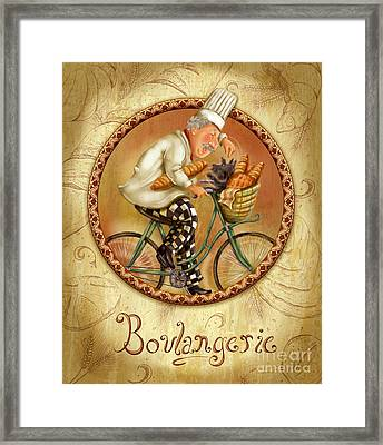 Chefs On Bikes-boulangerie Framed Print