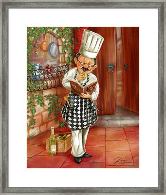 Chefs With Wine II Framed Print by Shari Warren
