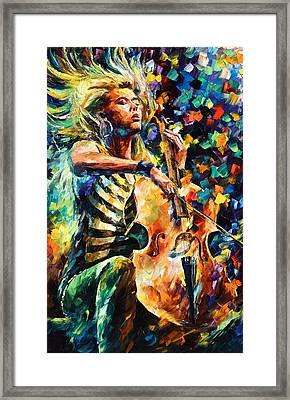 Chelo Player Framed Print