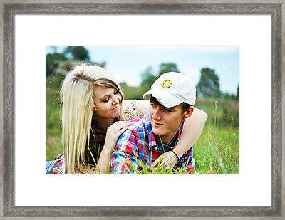 Chelsea And Dusty  Framed Print