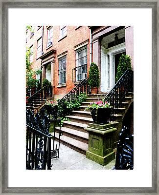Chelsea Brownstone Framed Print