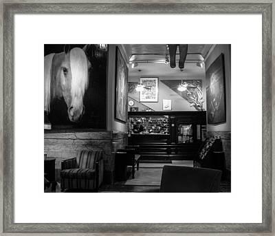 Chelsea Hotel Night Clerk Framed Print
