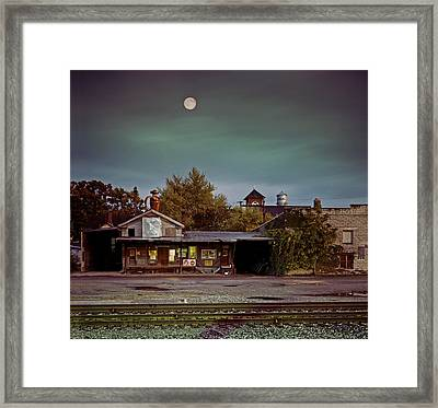 Chelsea Moon Framed Print