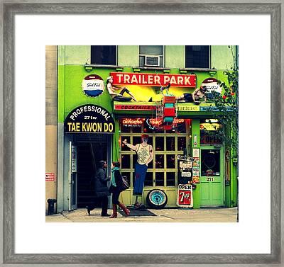 The Bar Framed Print