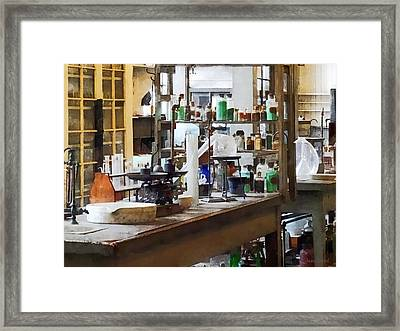 Chem Lab Framed Print by Susan Savad