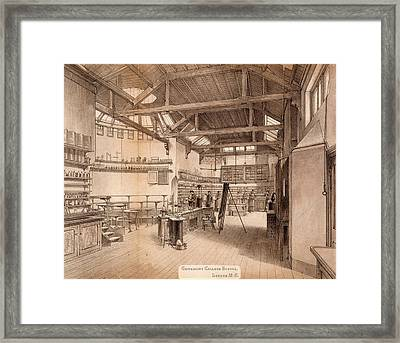 Chemical Laboratory And Lecture Theatre Framed Print