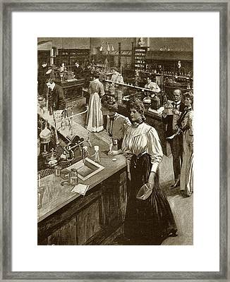 Chemical Research Laboratory Framed Print by National Library Of Medicine
