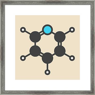 Chemical Solvent And Reagent Molecule Framed Print by Molekuul